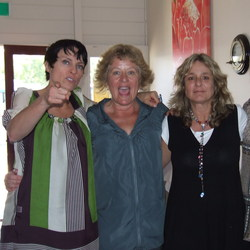 Gretel Killeen with Julia from Trio`s, me & Deb Perry