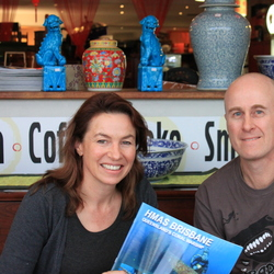 Karyn Wood from ABC Coast FM Radio & Nigel Marsh, author & underwater photographer