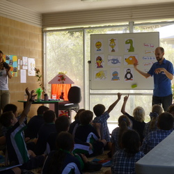 Peter Carnavas at Peregian Springs State School