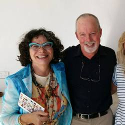 Palmira and I with Michael Robotham